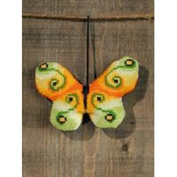 Mini broderier med sommerfugle